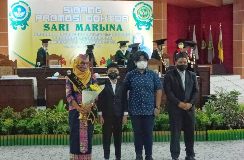 Jadi Lulusan Doktor Ilmu Lingkungan Tercepat, Inilah Sosok Dr. Sari Marlina