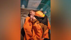 FOTO : Bayi yang sempat dibuang saat mendapat perawatan medis di RSUD Jaraga Sasameh Buntok.
