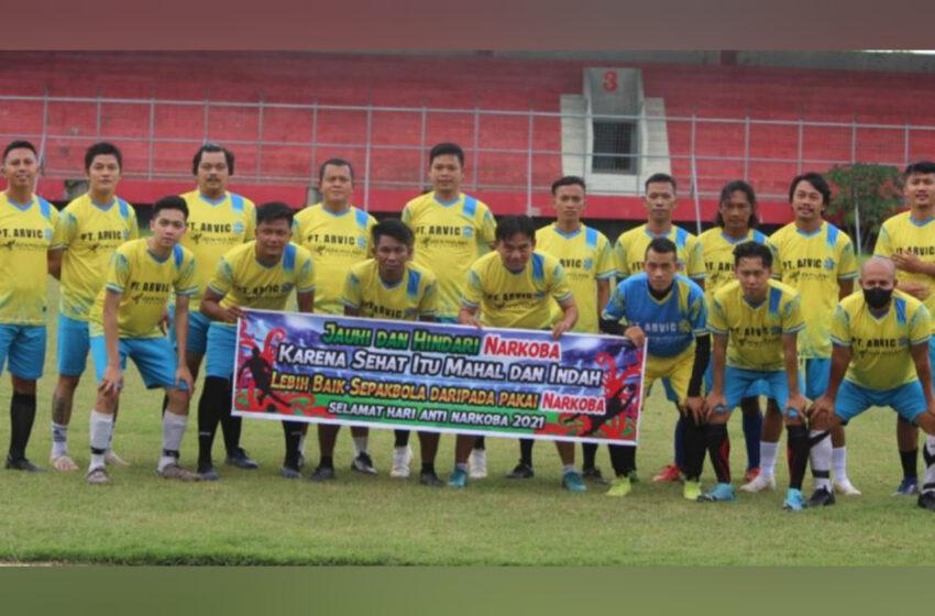 Kampanye Anti Narkoba, PWI Kalteng Ikuti Trofeo Sepakbola