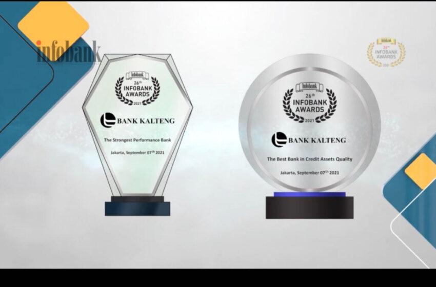 Ikuti Arahan Gubernur, Bank Kalteng Berhasil Raih Lima Penghargaan Di Ajang 26Thn Infobank Award