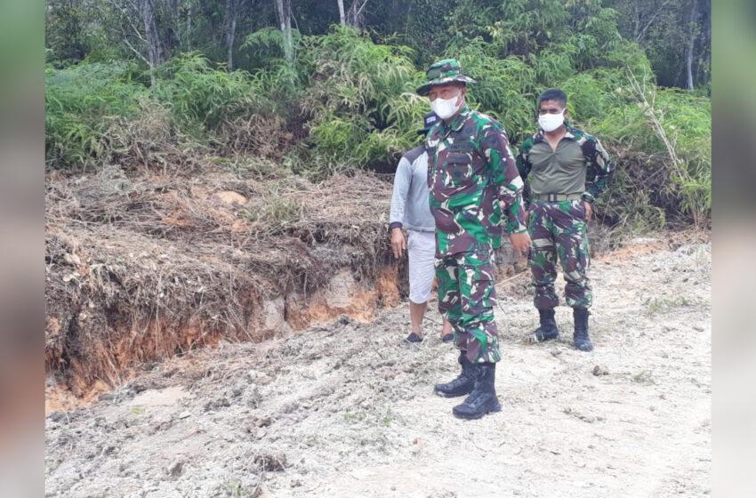 Dandim 1016/Plk Cek Lokasi TMMD di Kelurahan Kampuri